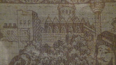 Antique18C  Islamic Persian Hand Woven Tapestry With A Mosque On Distance,framed 6