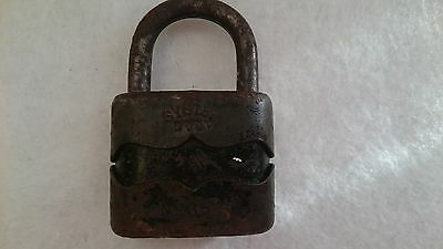 Vintage Solid Cast Iron Padlock System Dulv №35L No Key 6