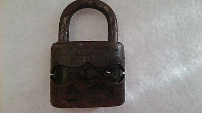 Vintage Solid Cast Iron Padlock System Dulv №35L No Key 6 • CAD $34.32