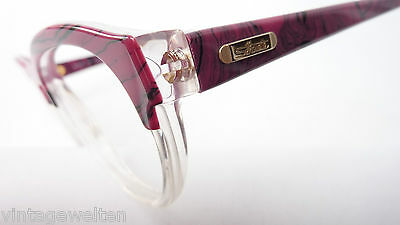 Brillenfassung Vintagebrille von Silhouette große Gläser transparent-pink Gr. M