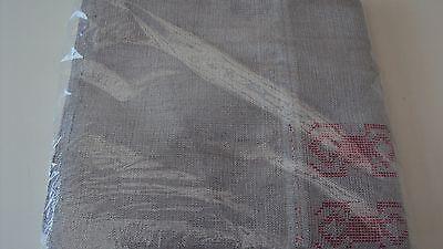 Nigerian Aso Oke Gele (Headtie) Silver with Pink Patterns 1 Piece 3