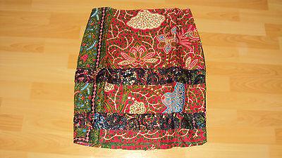 Ankara African Print Burgundy & Green Multi Skirt & Fitted Top UK 10-12 7