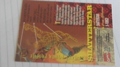 1 card_marvel comics # 94' fleer ULTRA_X-MEN - SHATTERSTAR_ X-force_n.22_1994 2