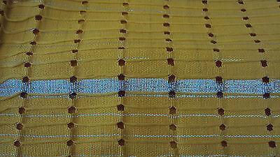 NIGERIAN Aso Oke Gele (Headtie) Yellow & Silver with Stones on last Strip - 1 Pc 3