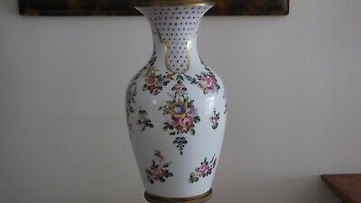"18th Century 22"" Sevres Urn w/ Musical and Floral Motif. Sevres Mark, Initialed 6"