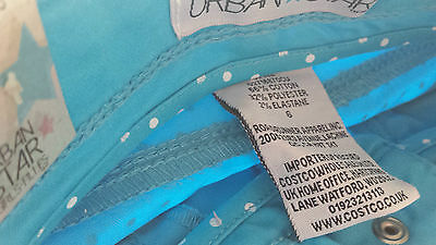 AGE 5 - Girls cropped jeans / trousers in turquoise Polka dot BNIP BNWT 2