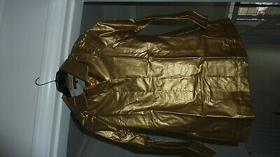 Marks & Spencer Autograph M&S Metallic Gold Raincoat Coat Mac Age 10 - 11 Bnwt 2