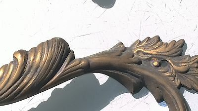 """2 Large handle DOOR PULLS solid BRASS old vintage antique style 11 """" heavy B 2"""
