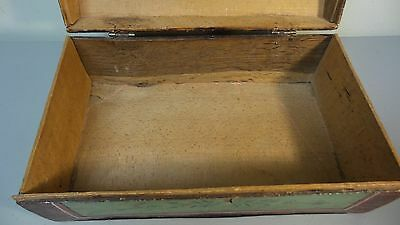 Great 19Th Century Hand Made Wooden Bride's Box, Dome Top, Original Paint 6