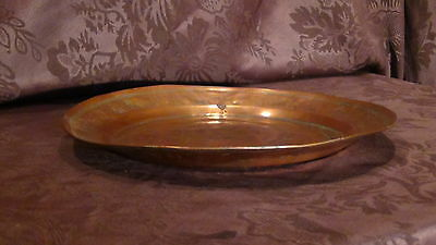 Antique 18C Islamic Arabic Copper  Ornamental Decorated Plate 10