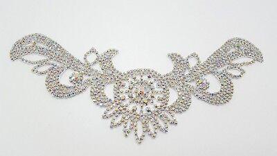 New Bridal Wedding Flower Crystal Rhinestones Diamante Pearls Hair Clip EA9 02