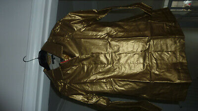 Marks & Spencer Autograph M&S Metallic Gold Raincoat Coat Mac Age 10 - 11 Bnwt 4