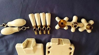 Vintage Bathroom Fixtures Cross Handled Porcelain White Reclaimed Salvaged 18 Pc 6