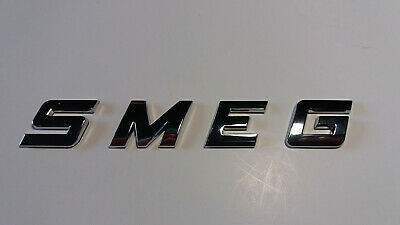 NEW GOOD QUALITY SMEG word / letters, 3D CHROME / SILVER, Self Adhesive. 6