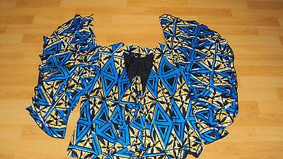 Ankara African Print Blue, Black & Beige Multi Skirt & Jacket Top UK 12-14 / M 4