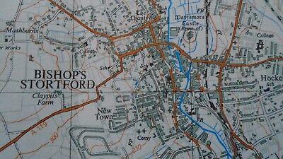 "RARE PRISTINE Ordnance Survey 2.5"" Map TL42 Bishops Stortford 1961 Little Hadham 4"