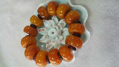Beautiful Chinese Amber Bead Hand Woven Bracelet 3