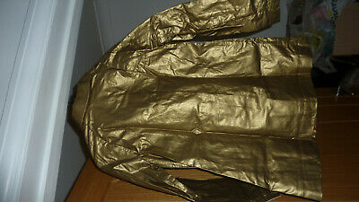 Marks & Spencer Autograph M&S Metallic Gold Raincoat Coat Mac Age 10 - 11 Bnwt 6