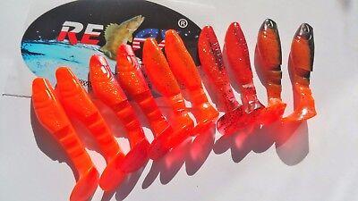 NEU Shad 10 Stück Set Gummifische RELAX Kopyto Bass 3``,8 cm Raubfischangeln