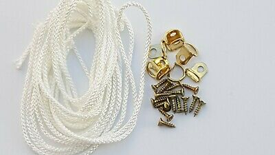 Picture Frame D Rings + Screws With Cord Brass Canvas Hooks Hanger Multi Listing 10