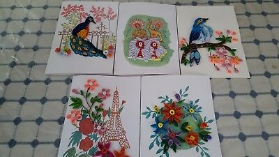 Handmade paper quilling greeting cards happy birthday best wishers 1 of 2 handmade paper quilling greeting cards happy birthday best wishers an good luck m4hsunfo