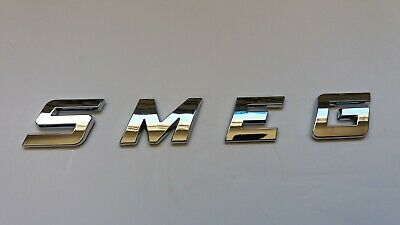 NEW GOOD QUALITY SMEG word / letters, 3D CHROME / SILVER, Self Adhesive. 4