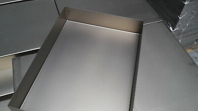 Edelstahl V2a-Grillwanne Spanferkelwanne Auffangwanne 350mm x 405mm x 60mm x 3