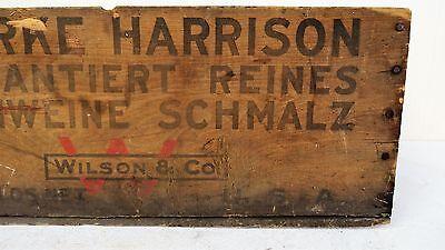 Tante Emma Laden Krämerladen alte Holzkiste Harrison Made in USA Schmalz Schwein 2