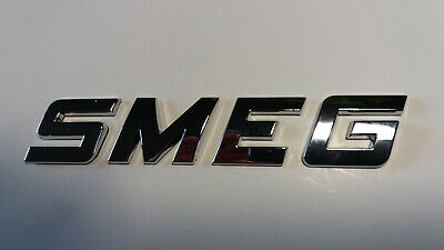 NEW GOOD QUALITY SMEG word / letters, 3D CHROME / SILVER, Self Adhesive. 5