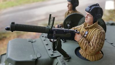 WK II ModellbauMaßstab 1:16 RC Panzer Zubehör Russ Turm MG 2