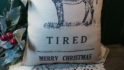 Comical Christmas Donkey Pillow Homestead Farm Country Decoration Primitive 4