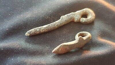 VR Roman bronze buckle pins one Gladius shape. Please read description. L137n 2