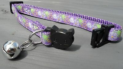 Purple Cat Collar, Cat Safety Collar with Bell, Quick Release Collar 6