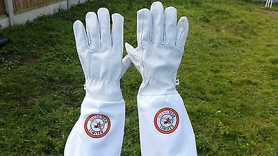 Beekeeper Bee Gloves Beekeeping gloves Goat skin Leather & 100% Cotton LARGE 2