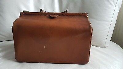 Antike alte Arzttasche aus Leder Nest Hofmann Carlsbad um 1920 orig.Schutztasche 2
