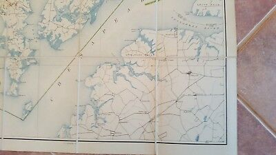 LARGE MARYLAND MAP - HARFORD COUNTY topography & Election Districts - 1922 6