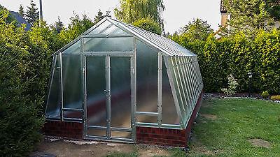 Metall Gewachshaus 3x6m 18m2 Stahl Glas Treibhaus Eur 1 990 00