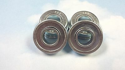 "5//8/"" x 1-3//8/"" x 1//2/"" length through bore Flanged unground wheel bearing"