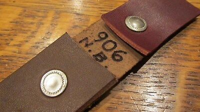 1 DOZ. LG. VINTAGE #906 N.P.SOLID BRASS SPEEDY RIVETS USA VINTAGE NIC. on Brass