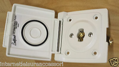 BULLFINCH Gas Outlet Point No. 6087  WHITE   - Caravan Motorhome