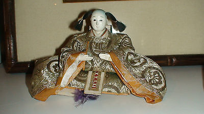 4 + 3 + 1 Antique Japanese Hina Imperial Court Empres Dolls With Gofun Faces 10