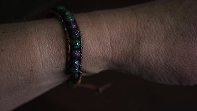 Ruby Zoisite Natural Crystal Beaded Bracelet Medley Positive Healing Ideal Gift 3