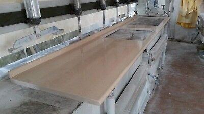 TOP CUCINA IN quarzo con svuoto per piano cottura e lavabo in okite ...