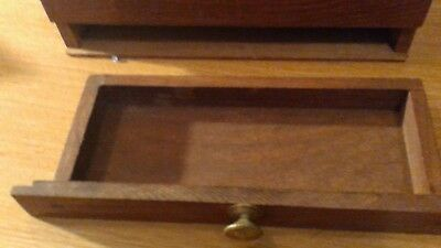 Antique Hardwood Slope Writing Desk With Very Rare Brass Inlay 10