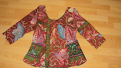 Ankara African Print Burgundy & Green Multi Skirt & Fitted Top UK 10-12 5