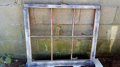 VINTAGE SASH ANTIQUE WOOD WINDOW PICTURE FRAME PINTEREST RUSTIC 24x19 6 PANE