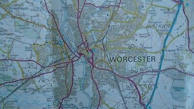Ordnance Survey Map 1:50,000 150 Worcester Malvern 1984 Inc. Tewkesbury Broadway 5