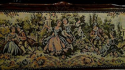 Set Of 2  Antique 1920 Upholstered Armchair And Settee Depicts Of Court Scene 10