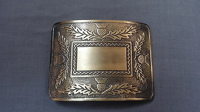 Mens Thistle Kilt Belt Buckle Antique Finish/Celtic Knot Work Kilt Belt Buckles 2
