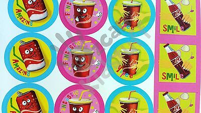 28 Scratch and Sniff Stickers Scented Kid Children Party Teacher Students Praise 5